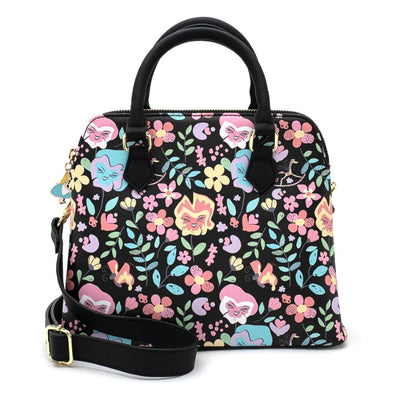 LOUNGEFLY - ALICE IN WONDERLAND FLOWER AOP CROSSBODY