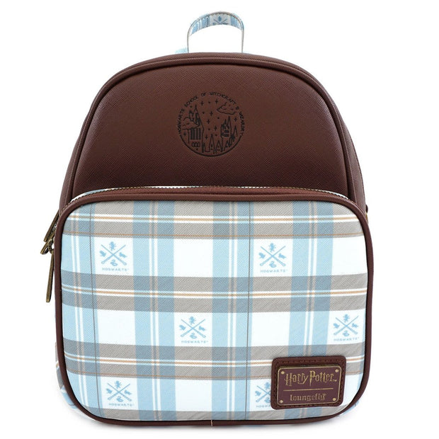 Loungefly x Harry Potter Hogwarts Plaid Convertible Backpack