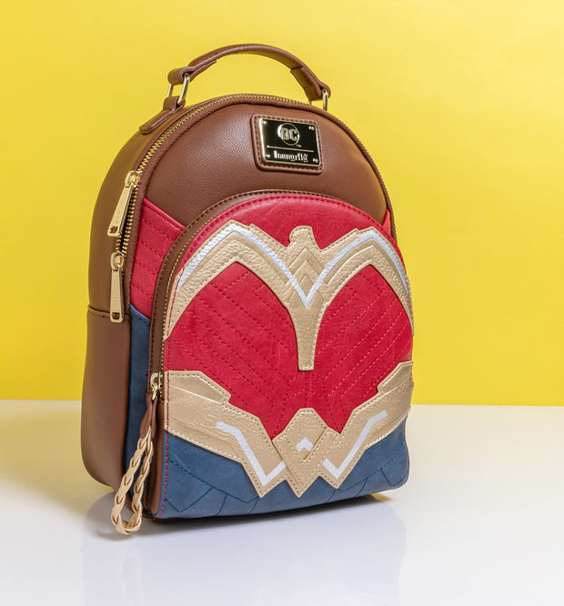 LOUNGEFLY - DC COMICS WONDER WOMAN COSPLAY MINI BACKPACK