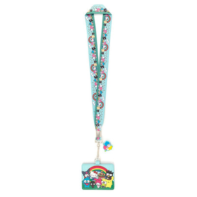 LOUNGEFLY - HELLO SANRIO RAINBOW GROUP LANYARD WITH CARDHOLDER