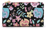 LOUNGEFLY - ALICE IN WONDERLAND FLOWER AOP WALLET