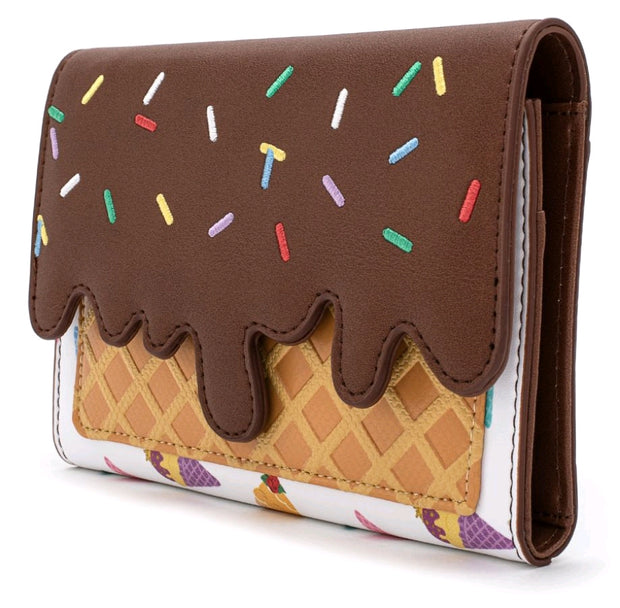 LOUNGEFLY - Disney Princess Ice Cream Die Cut Flap Wallet