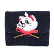 LOUNGEFLY - DISNEY MARIE DENIM SMALL WALLET