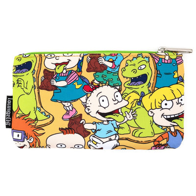 LOUNGEFLY X NICKELODEON RUGRATS AOP NYLON POUCH