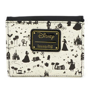 LOUNGEFLY - DISNEY BLACK AND WHITE PRINCESS SMALL WALLET