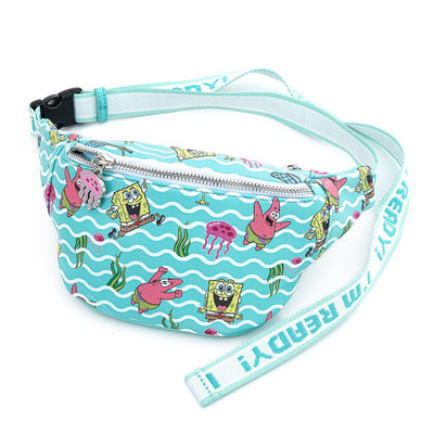 LOUNGEFLY X NICKELODEON SPONGEBOB JELLY FISHING AOP FANNY PACK