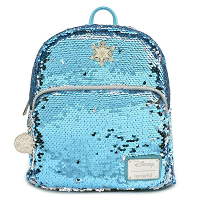 LOUNGEFLY - DISNEY FROZEN ELSA REVERSIBLE SEQUIN MINI-BACKPACK