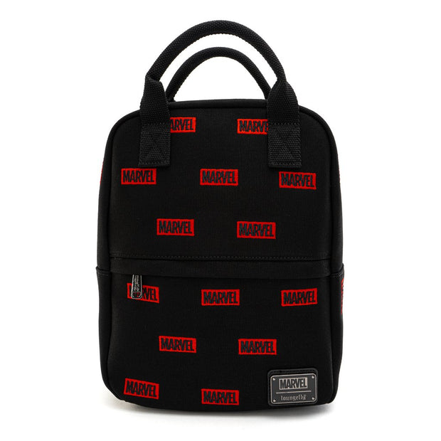 MARVEL: LOUNGEFLY EMBROIDERED LOGO AOP CANVAS MINI BACKPACK