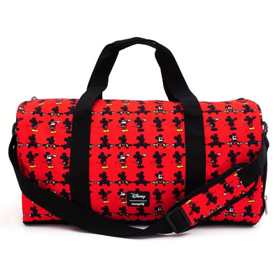 LOUNGEFLY - MICKEY PARTS AOP NYLON DUFFLE BAG