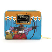LOUNGEFLY - DISNEY ROBIN HOOD ARCHERY TOURNAMENT ZIP AROUND WALLET