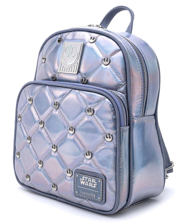 LOUNGEFLY STAR WARS HOTH EMPIRE 40TH IRIDESCENT MINI BACKPACK