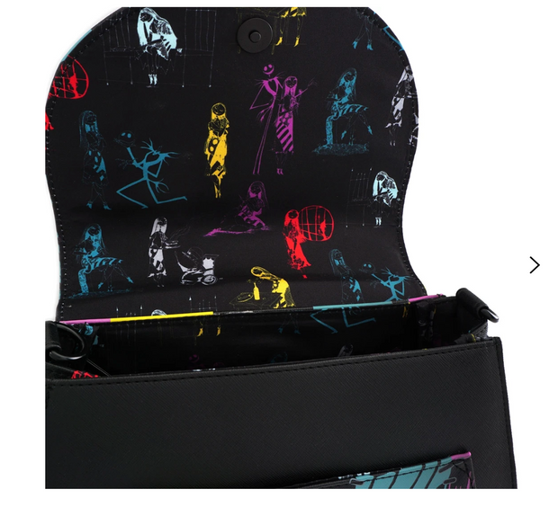 LOUNGEFLY X NIGHTMARE BEFORE CHRISTMAS SALLY COSPLAY CROSS BODY BAG