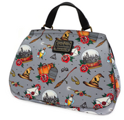 LOUNGEFLY X HARRY POTTER RELICS TATTOO PRINT CROSSBODY BAG