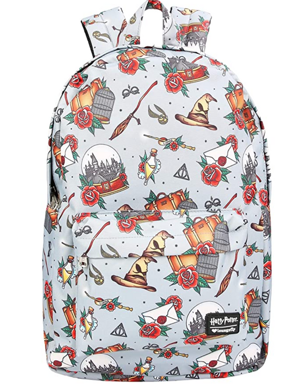 LOUNGEFLY X HARRY POTTER RELICS TATTOO PRINT AOP BACKPACK
