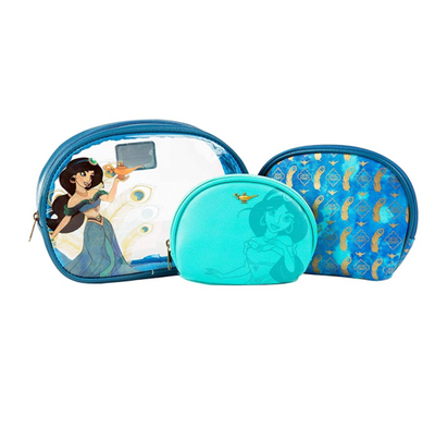 LOUNGEFLY X DISNEY ALADDIN JASMINE COSMETIC 3 PC SET