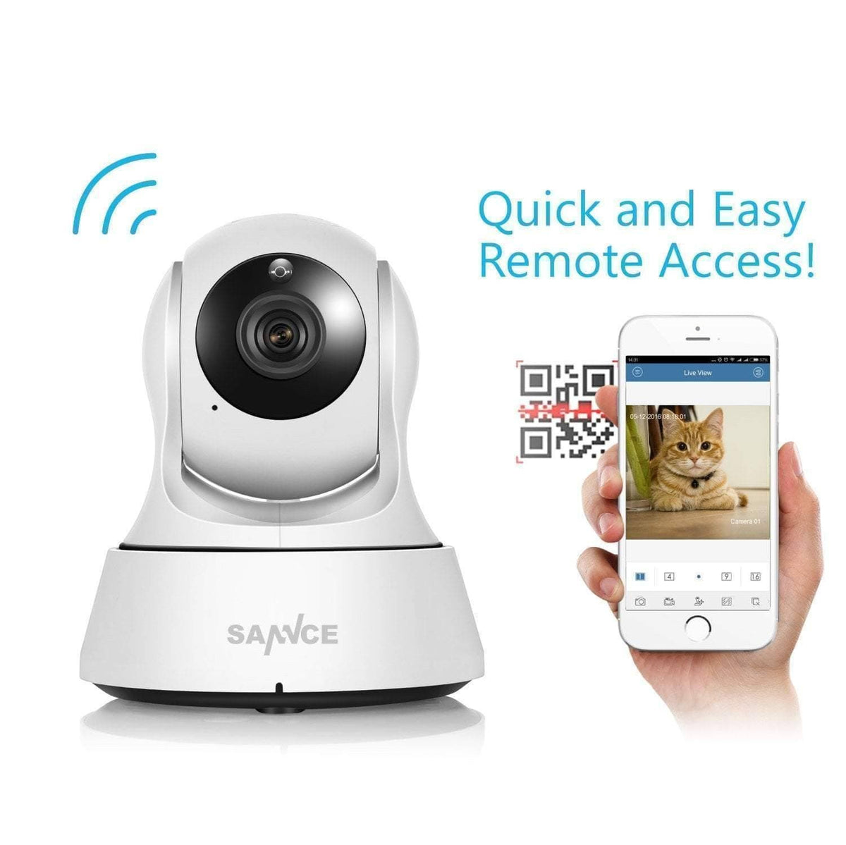 1080P HD Wireless Wi-Fi Smart Security CCTV Camera  -  With 1m Power Cable / US Plug  -  A+ Gadgets -  Gadget