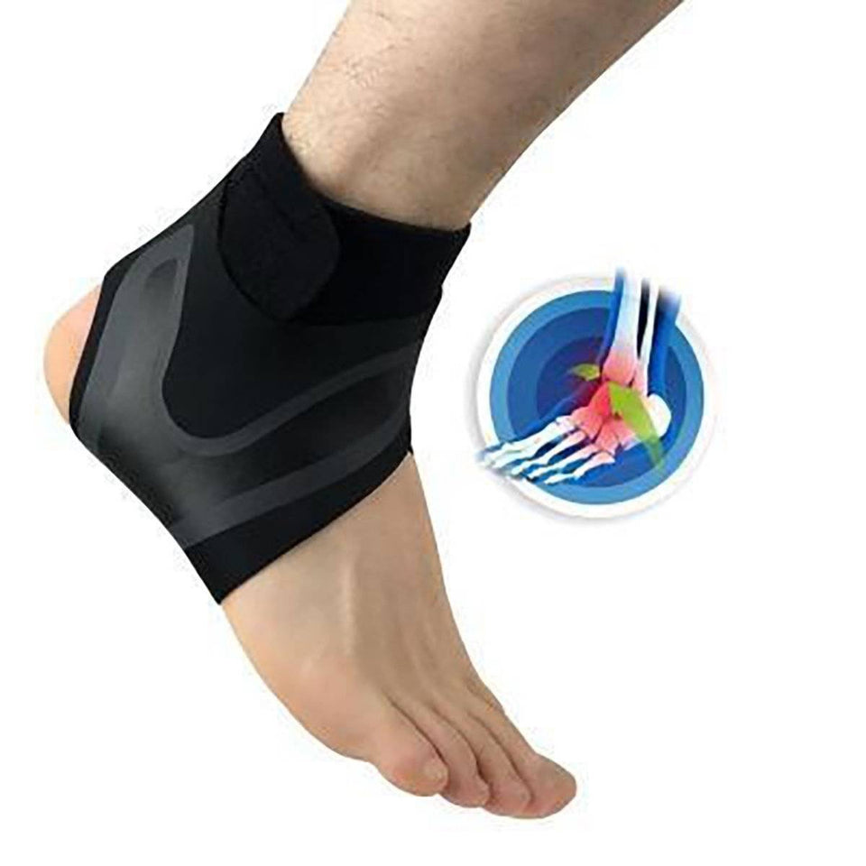 Adjustable Elastic Ankle Sleeve  -  Left Foot / S  -  Honey Locker -  health & fitness