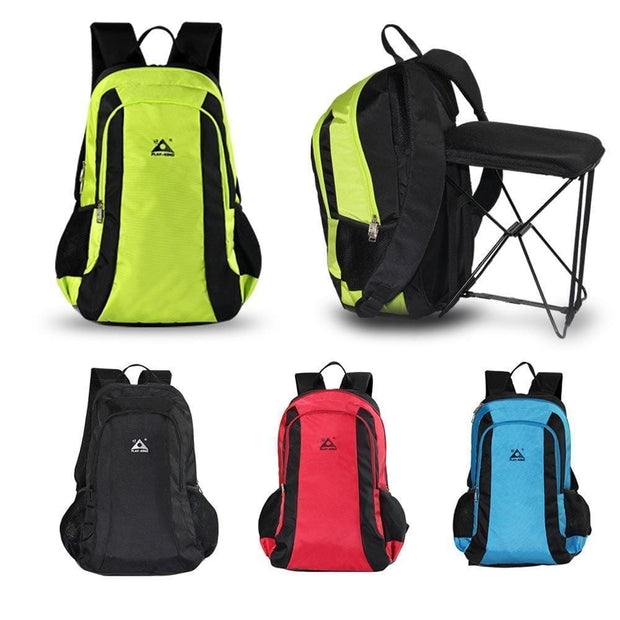 A+ Gadgets  -  2-in-1 Chair Bag Backpack  -  Red  -  Climbing Bags