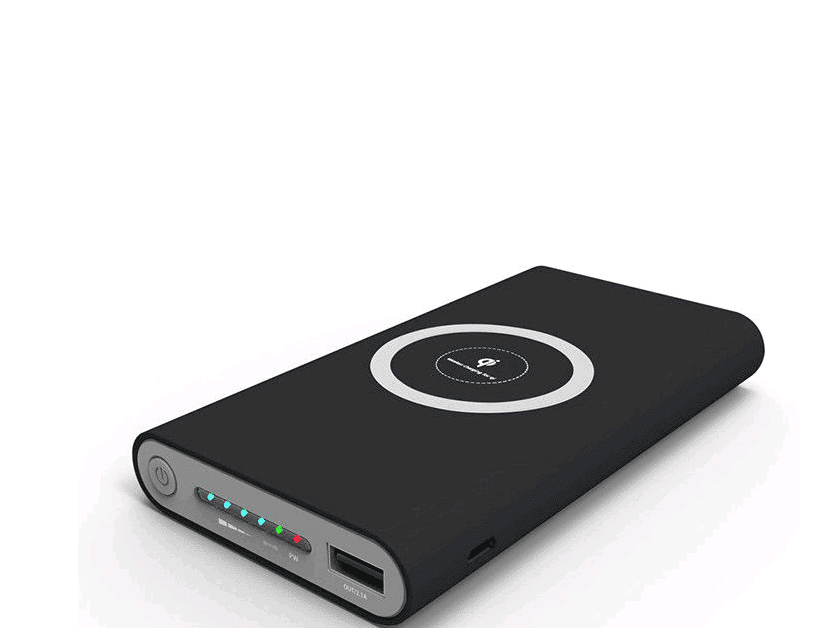 Qi Wireless Charger - 10000mAh Universal Portable Power Bank For iPhone & Android  -  Black  -  Honey Locker -  POWER BANK