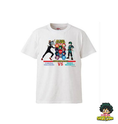T-SHIRT MY HERO ACADEMIA<br> HÉROS VS VILAINS - izuku-shop