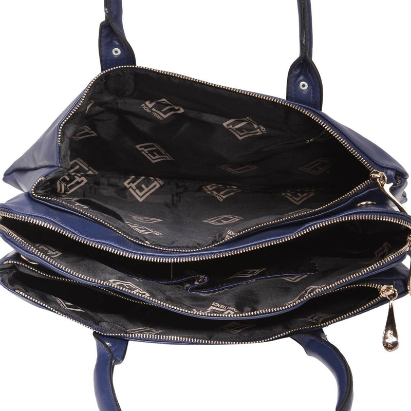 Blue PU Shoulder Bag