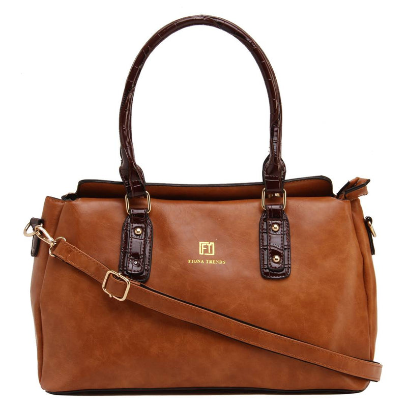 Brown PU Shoulder Bag
