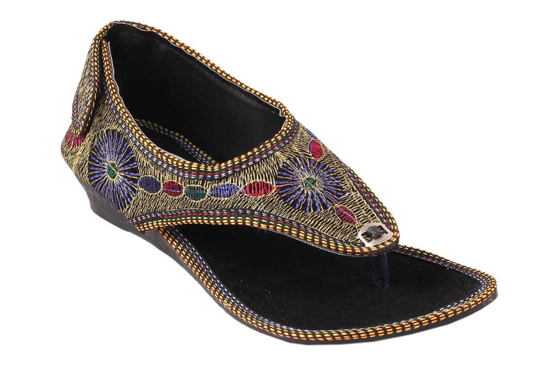 Multicoloured One Toe Flats For Women