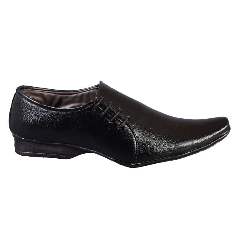 Men's Black Slip-on Synthetic Party Wear Formal Shoes