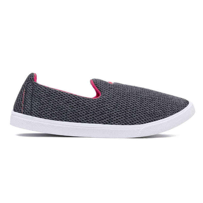 Grey Fabric Casual Shoes for women