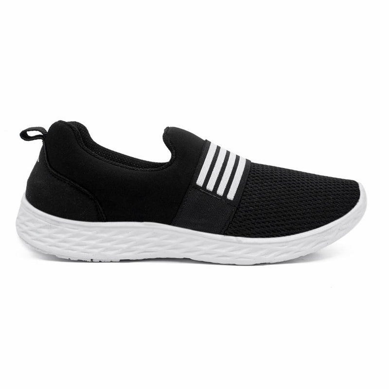 Black Fabric Casual Shoes for women