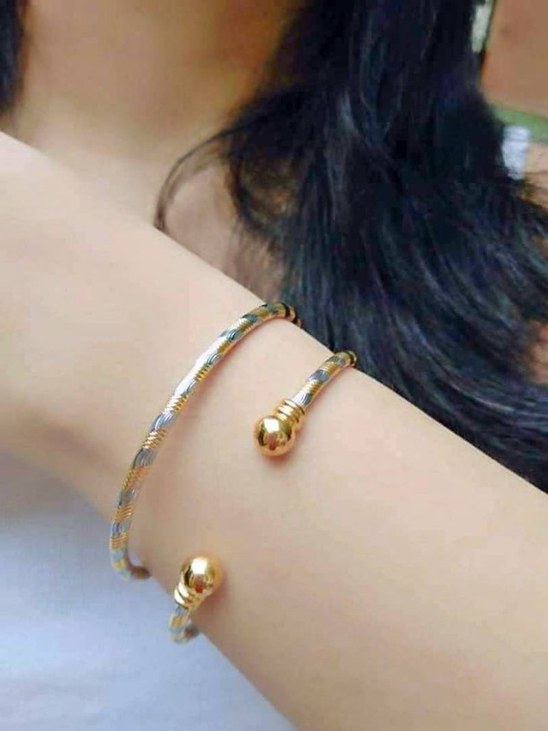 Gold Plated Multi Color Bangals