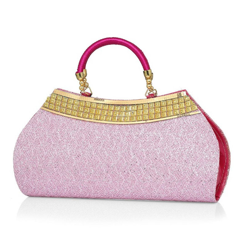 Clutch In Pink Colour
