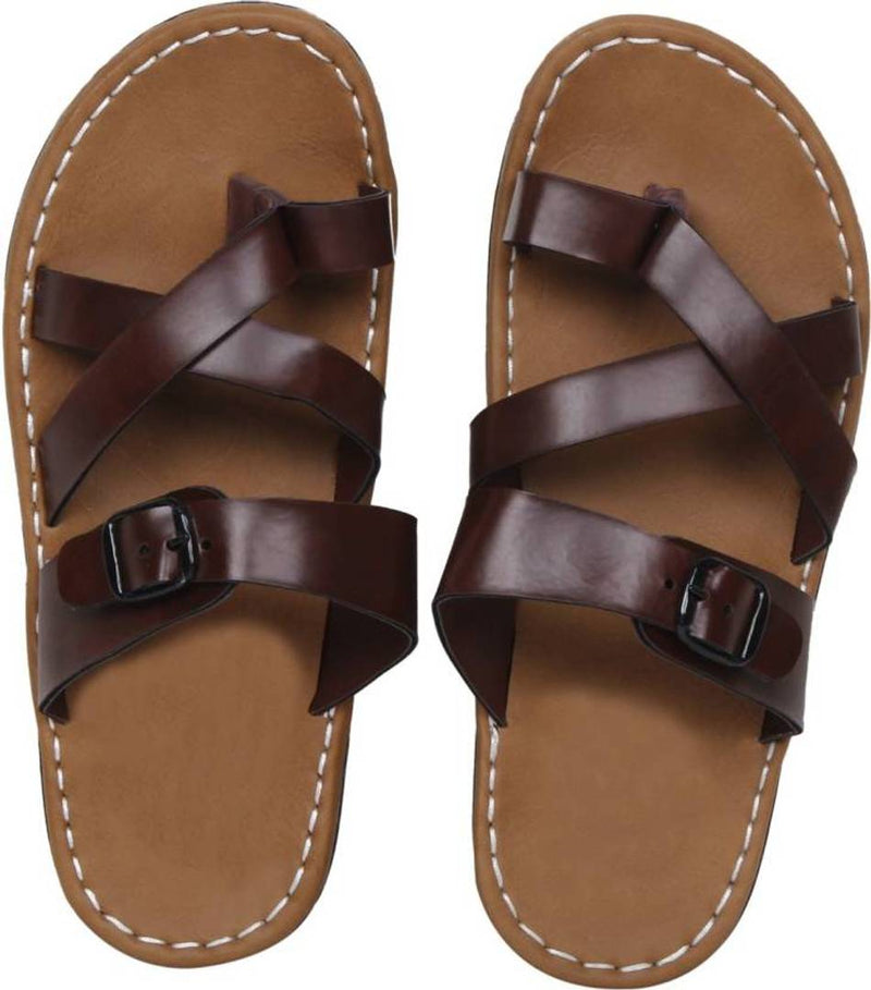 Men's Stylish Brow Synthetic Leather Casual Slipper