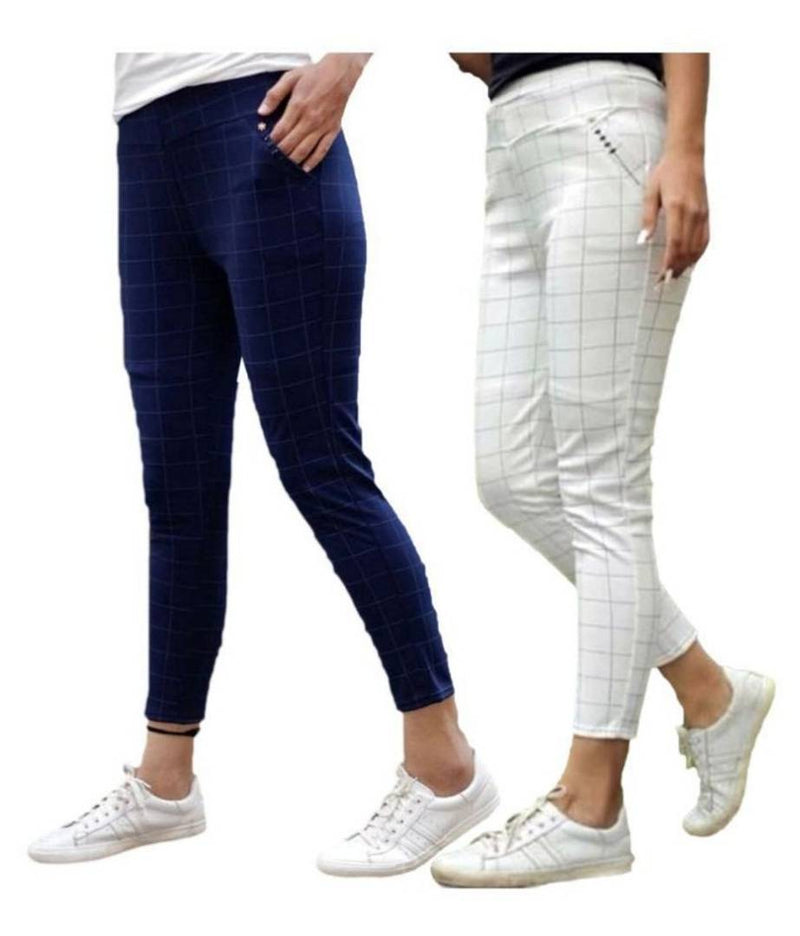Combo of 2 Checked Jeggings