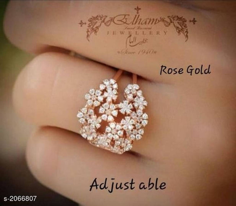 alloy rose gold plated Adjustable ring for women and girl
