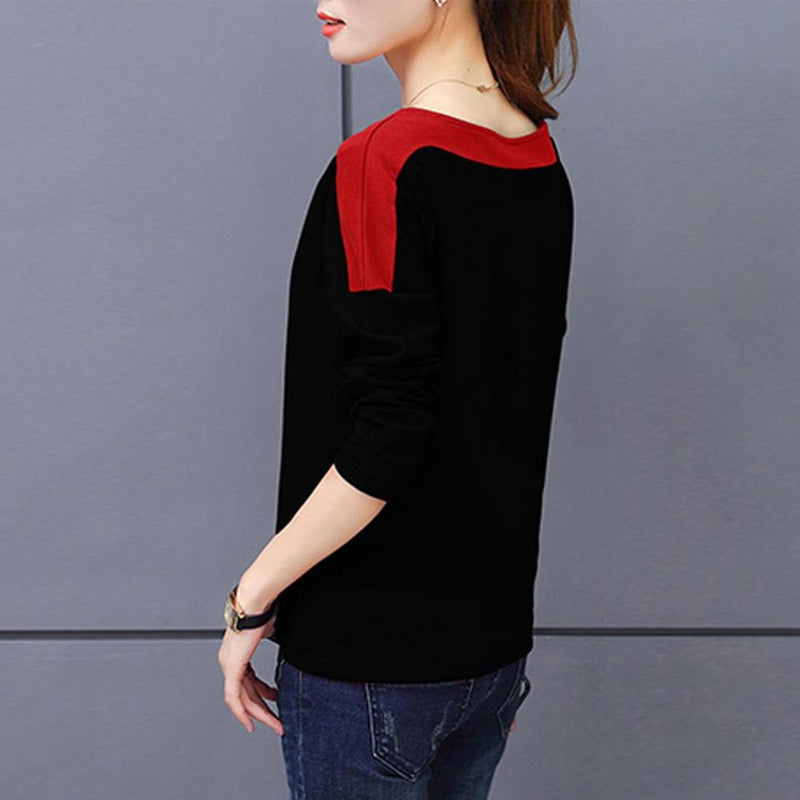 Women Black Hosery Solid Top