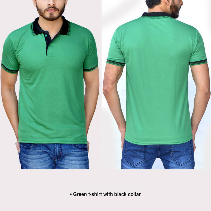 Set of 5 Polyester Blend Polo T-Shirt
