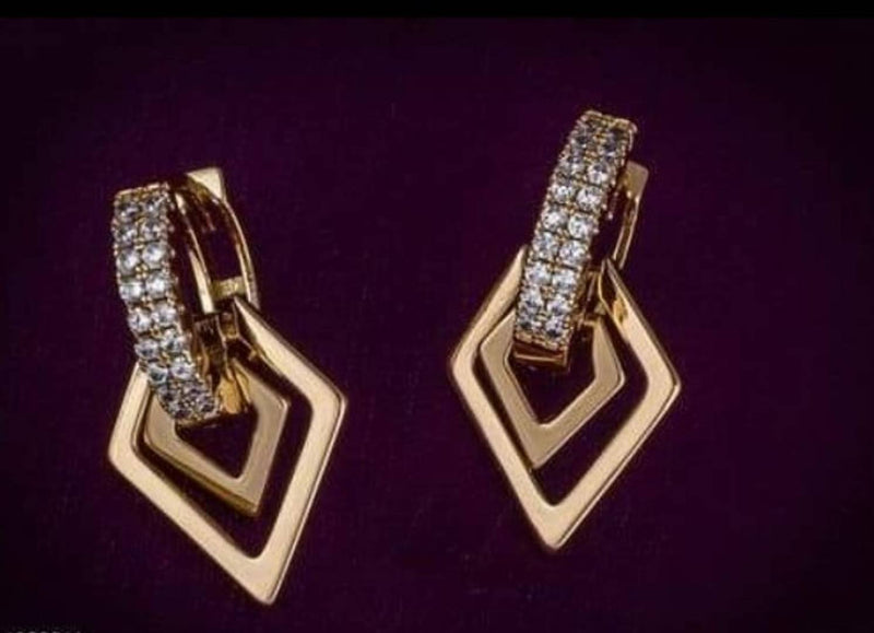American Diamond Metal Hoop Earring