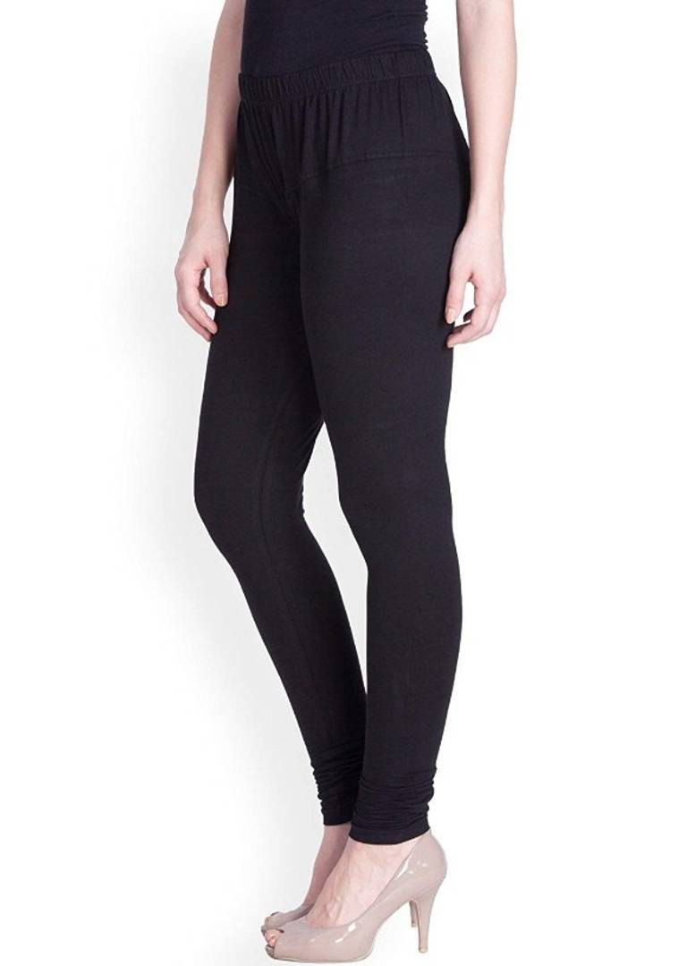 Women's Solid Cotton Spandex Leggings