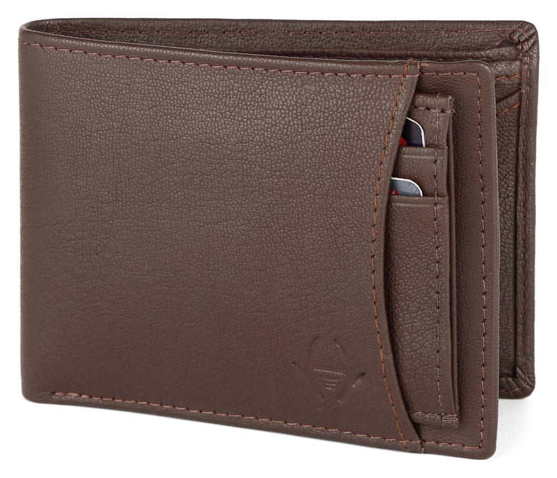 Premium Brown Leather Solid Wallet For Men
