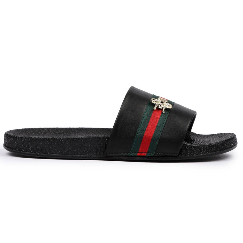 Stylish Black EVA Sliders Flip-Flops