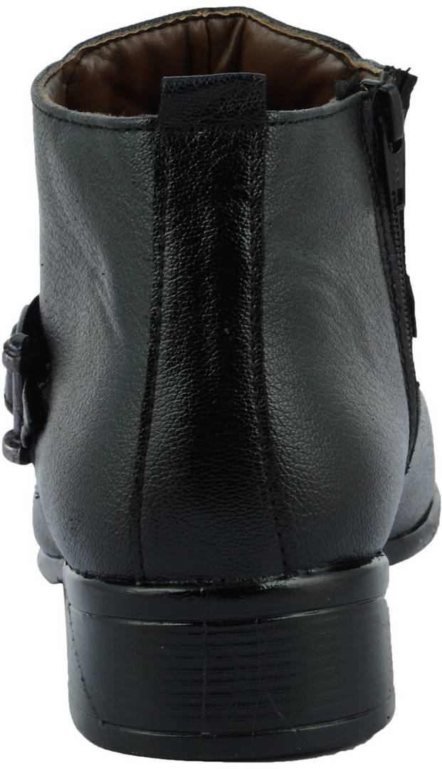 Men's High Heeled Black Synthetic Leather Outdoor Casual Boots