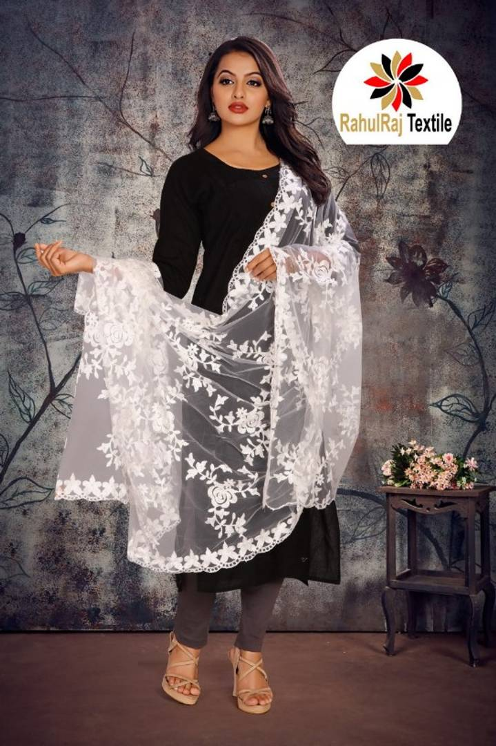 Elegant Nylon Net Embroidery Dupatta For Women's
