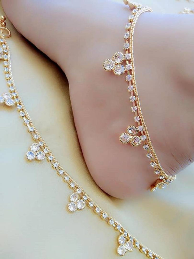 Diamond Anklet For Woman