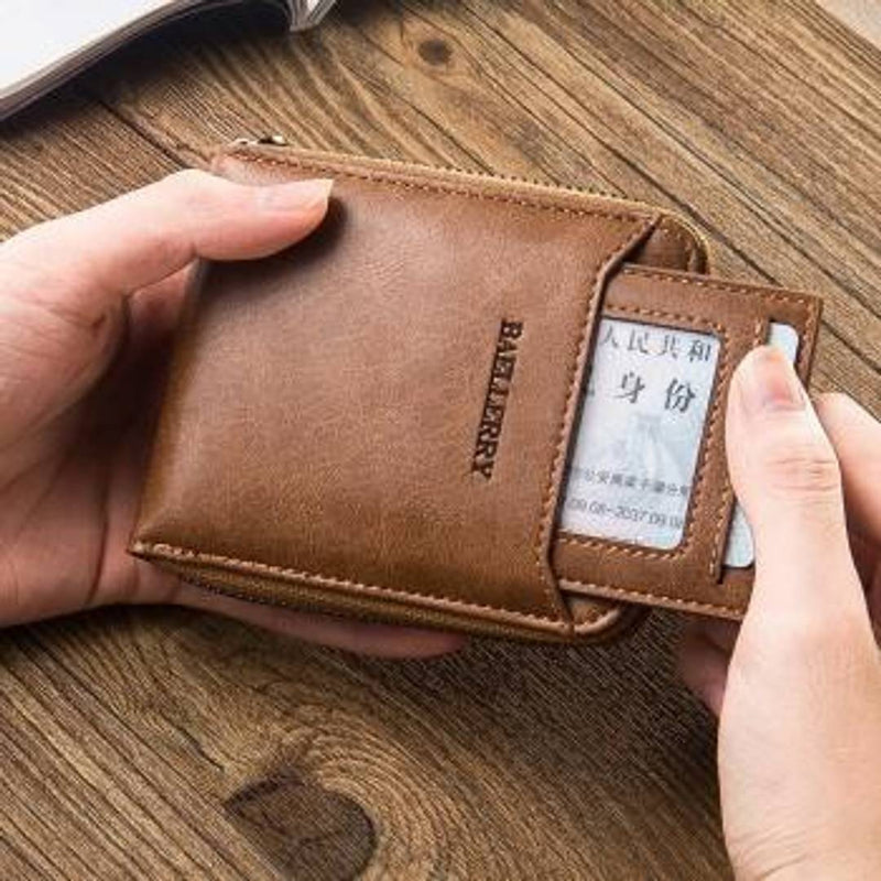 Soft Wallet With Removable Card Slots Multifunction Zipper wallets