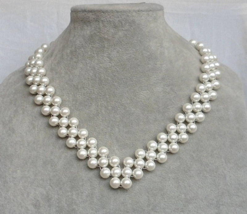 Beautifull Glass Pearl Necklace