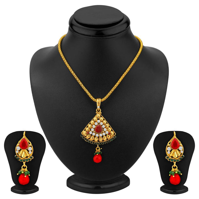 Charming Gold Plated Pendant Set