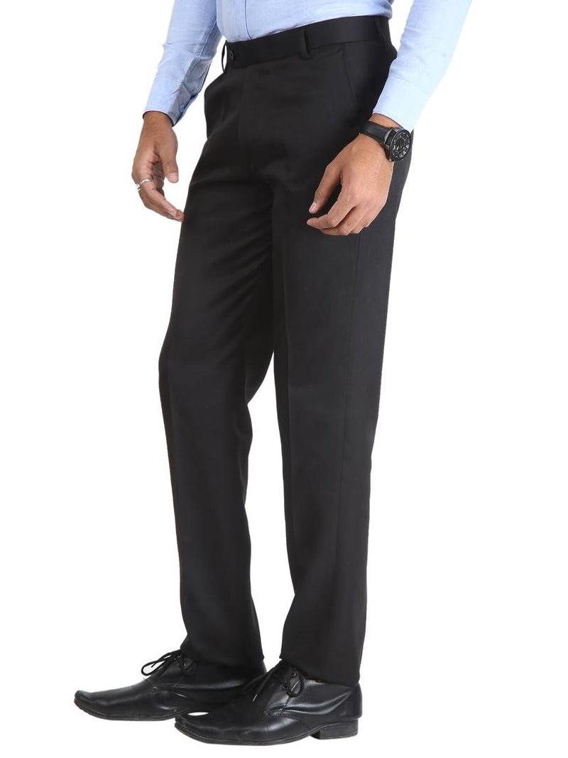Men's Black Slim Fit Formal Trouser