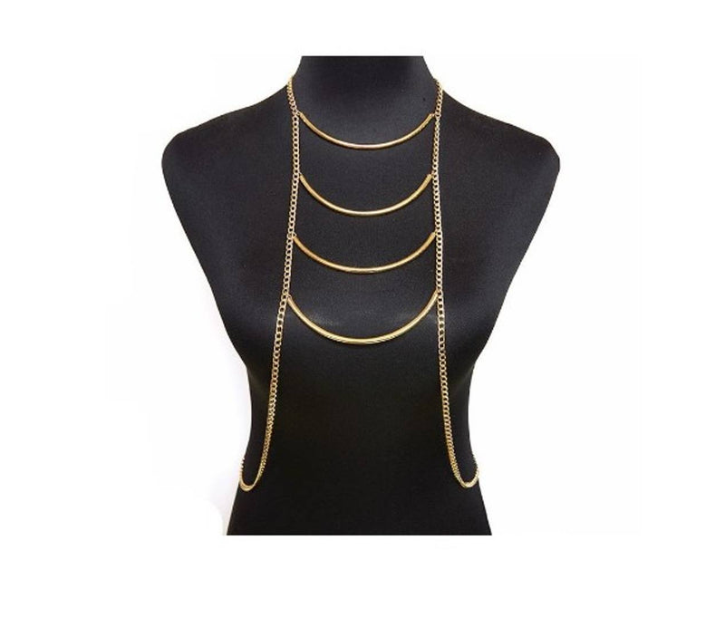 Celebrity Inspired Multi Layered Full Coverage Body Chain
