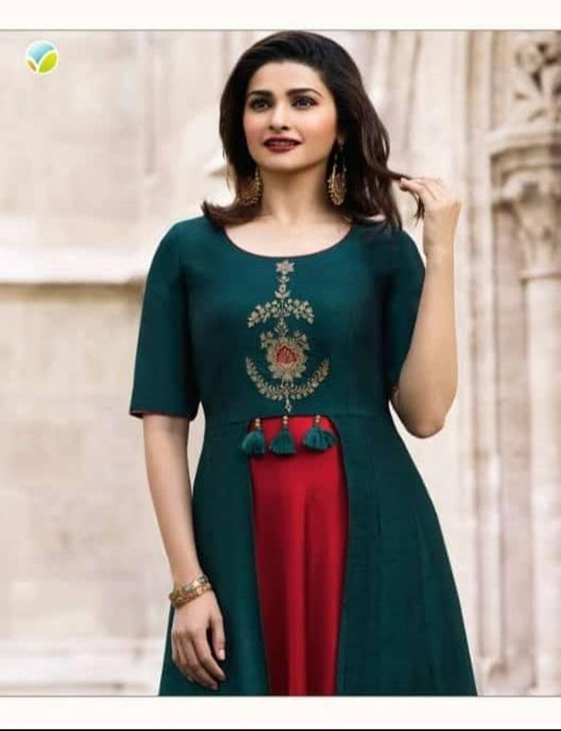 Women's Printed Rayon Layered Kurti